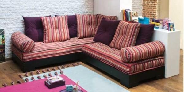 accessoirisez votre canap d 39 angle avec des coussins. Black Bedroom Furniture Sets. Home Design Ideas