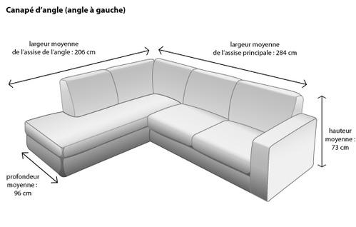 Les dimensions id ales pour votre canap d angle - Hauteur assise canape ...